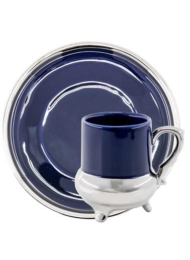 Kitchen World Kitchen World YFT-031 6lı Porselen Fincan Takımı Mavi Mavi